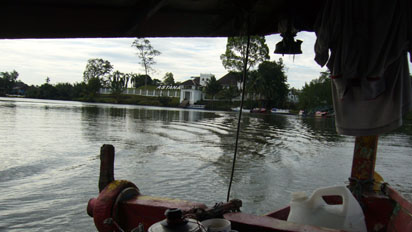 Boat across Kuching River