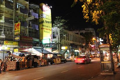 Entering Khao San Road