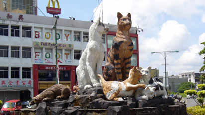 Cat Statue in Kuching