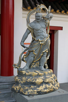 Guardian statue outside Chinese Temple