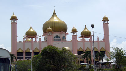 Pink and gold Mosque