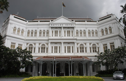 Raffles Hotel view from outside