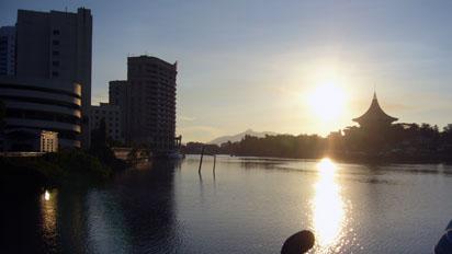 Sunset over Kuching River