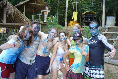 I'm the one with blue paint on my face