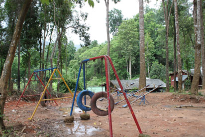 School Playground in the jungle