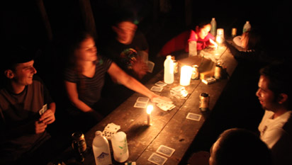 Card games by candle light