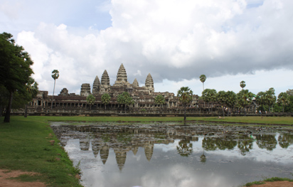Angkor Wat from inside the walls