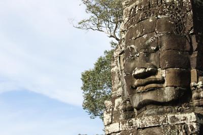 Avalokiteśvara / Jayavarman VII face sculpture on Bayon Wat