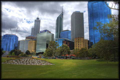 Perth Australia Central Business District