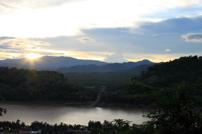 Sunset over Luang Prabang