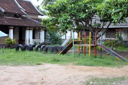 Playground in Luang Prabang school