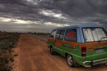 Mystery Machine on Nullarbor Straight