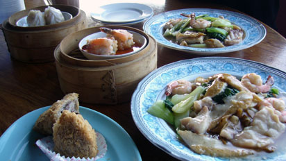 Seafood served in Sandakan