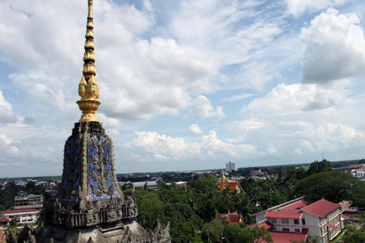 View from Arc de Triomph in Vientiane
