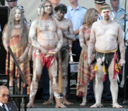 Aboriginals on Australia day