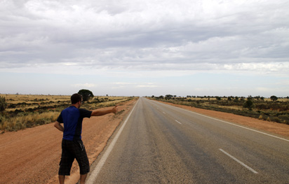 Hitch hiking Australia