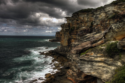 Royal National Park Sandstone cliffs