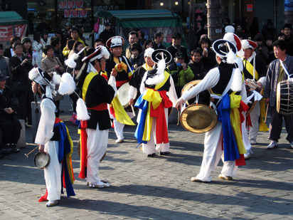 Samul Nori Performers in Seoul