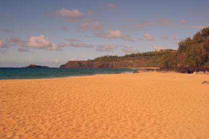 secret beach on hawaiian island