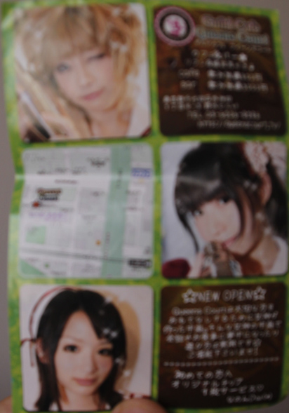 Japan leaflet advert