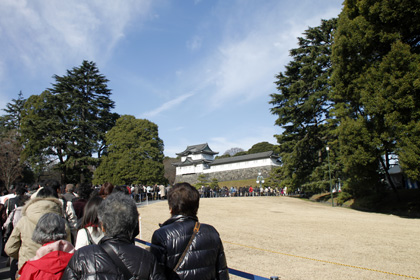 Queue for imperial palace