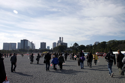 Crowd in Japan Imperial Palace