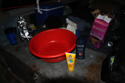 campervan washroom