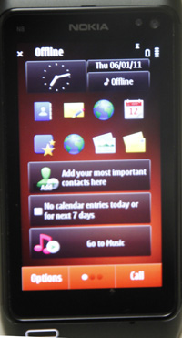Nokia N8 home page