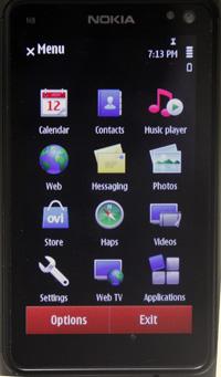 Nokia N8 menu