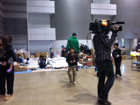 Evacuation centre March 11th Earthquake Japan