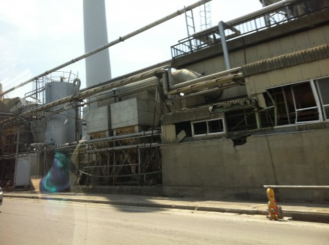 Sendai factory after tsunami