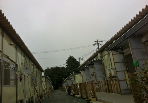Temporary housing for earthquake and tsunami victims in Japan