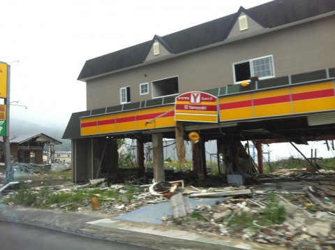 convenience store after earthquake damage