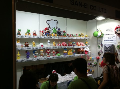 Mario teddy bear stand at tokyo game show