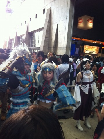 cosplay at tokyo game show