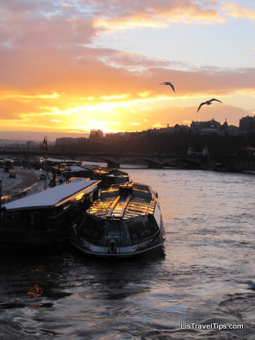 Seine Sunset in snow