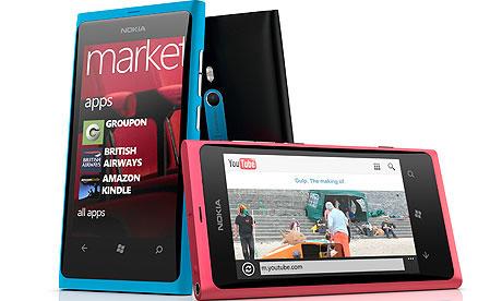 Nokia Lumia 800 phones