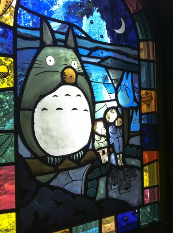 My Neighbour Totoro Studio Ghibli stained glass window