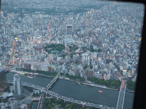450m skytree view of zojoji