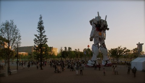60ft Gundam replica in Japan