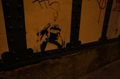 Banksy graffiti art in London