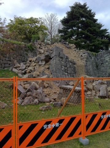 March 2011 earthquake damage to castle