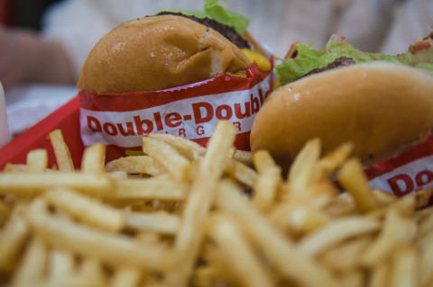 Fries and double-double burger