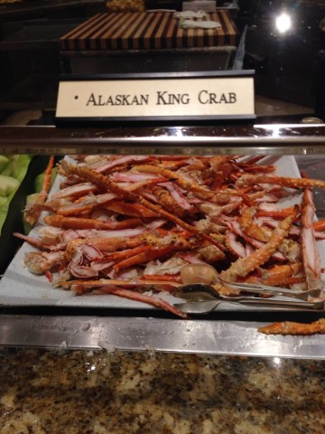 Buffet king crab