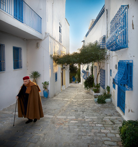 A street in Sidi Bou Said